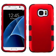 Insten Tuff Hard Hybrid Rubber Silicone Case For Samsung Galaxy S7 - Red/Black (2208107)