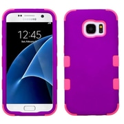 Insten Tuff Hard Dual Layer Rubber Coated Silicone Cover Case For Samsung Galaxy S7 - Purple/Pink (2208109)