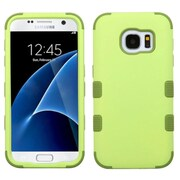 Insten Tuff Hard Hybrid Rubber Coated Silicone Cover Case For Samsung Galaxy S7 - Green (2208112)