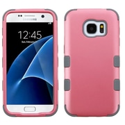 Insten Tuff Hard Hybrid Silicone Cover Case For Samsung Galaxy S7 - Pink/Gray (2208113)