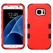 Insten Tuff Hard Dual Layer Rubberized Silicone Cover Case For Samsung Galaxy S7 - Red/Black (2208114)