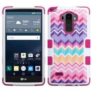 Insten Tuff Camo Wave Hard Hybrid Rugged Shockproof Rubber Silicone Cover Case For LG G Stylo - Hot Pink/Purple (2123566)