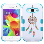 Insten Tuff Pastel Dreamcatcher Hard Hybrid Rubberized Silicone Cover Case For Samsung Galaxy Core Prime - Blue/White (2172453)