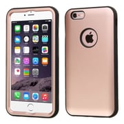 Insten 2-Layer Tuff Hard Shockproof Hybrid Cover Case For iPhone 6 Plus/6s Plus - Rose Gold/Black (2177660)