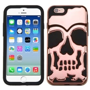 Insten Skull Skullcap 2-Layer Hybrid Shockproof Cover Case For iPhone 6 6s - Rose Gold/Black (2185146)