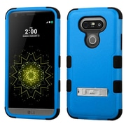 Insten Hard Dual Layer Rubberized Silicone Case with stand For LG G5 - Blue/Black (2229040)
