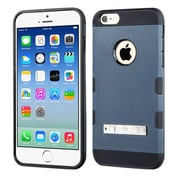 Insten Dual Layer Hybrid Hard PC/TPU Shockproof Case with Stand for iPhone 6 6s - Blue/Black (2092580)