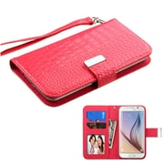 Insten Book-Style Leather Case For iPhone 6 HTC One M7/M8 LG G2/Nexus 4 5 Moto X Galaxy S3/S4/S5/S6 - Hot Pink (2141694)