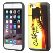 Insten California Love Sunset Hard Hybrid Rubberized Cover Case For Apple iPhone 6 Plus/6s Plus - Yellow/Black (2165048)