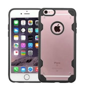 Insten Transparent Crystal Back Panel Cover Case w/TPU Shock Resistant Bumper For iPhone 6s Plus / 6 Plus Clear/Black (2185467)