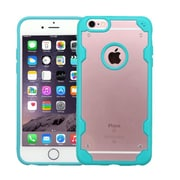 Insten Transparent Crystal Back Panel Cover Case with TPU Shock Absorbing Bumper For iPhone 6s Plus/6 Plus Clear/Blue (2185471)
