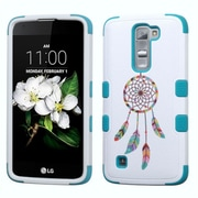 Insten Tuff Pastel Dreamcatcher Hard Dual Layer Rubber Silicone Case For LG K7 Tribute 5 - Blue/White (2197592)