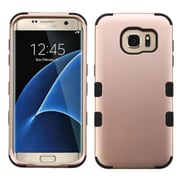 Insten Tuff Hard Hybrid Silicone Cover Case For Samsung Galaxy S7 Edge - Rose Gold/Black (2208104)