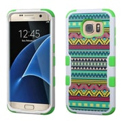 Insten Tuff Tribal Sun Hard Dual Layer Case For Samsung Galaxy S7 Edge - Green (2211221)