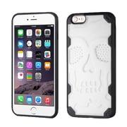 Insten Skullcap Hard TPU Case For Apple iPhone 6 Plus/6s Plus - White/Black (2192739)