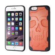 Insten Skullcap Hard TPU Cover Case For Apple iPhone 6 Plus/6s Plus - Orange/Black (2192743)