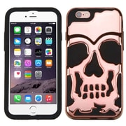 Insten Skull Skullcap 2-Layer Hybrid Shockproof Cover Case For iPhone 6 Plus / 6s Plus - Rose Gold/Black (2185145)