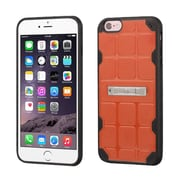 Insten Hard TPU Cover Case w/stand For Apple iPhone 6 Plus/6s Plus - Orange/Black (2189656)