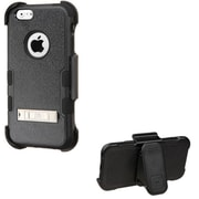 Insten Dual Layer Hybrid Stand Rubberized Hard PC/Silicone Holster Case for Apple iPhone 6/6s - Black (2136599)
