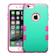 "Insten Premium Hybrid Tough Dual-Layer Impact Resistant Case for iPhone 6s Plus / 6 Plus 5.5"" - Green/Hot Pink (2011457)"