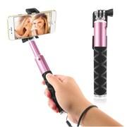 Insten Selfie Stick Portable Pocket-Size Extendable Handheld Monopod Holder Self-Portrait Universal - Pink (2194314)