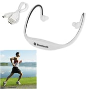 Insten Wireless Sports In-Ear Earbud Headphone with Mic Microphone Bluetooth Headset Handsfree White/Black (2127053)