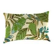 Jordan Manufacturing Reversible Outdoor Lumbar Pillow; Marley Emerald / Chino Stripe Emerald