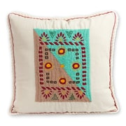 Novica My Tradition Artisan Crafted Folk Art Embroidered Cotton Pillow Cover