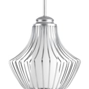 Progress Lighting Finn 1 Light Mini Pendant; Metallic Silver