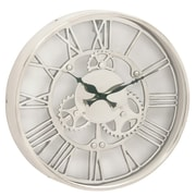 Urban Designs 14'' Gear Wheel Aluminum Wall Clock