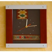 Novica On Cuzco Time Pinewood and Aluminum Wall Clock