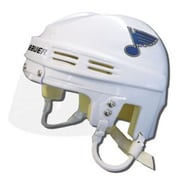 Bauer Official NHL Licensed Mini Player Helmets - St Louis Blues (White)