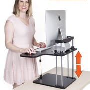 Stand Steady 17' H x 25'' W Standing Desk w/ Sit/ Stand Conversion Unit; Black
