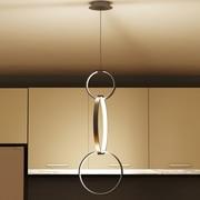 VONNLighting Capella 3 Light Pendant; Aluminum