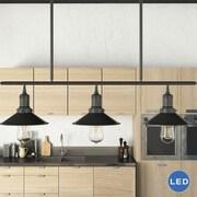 VONNLighting Delphinus 3 Light Kitchen Island Pendant; Architectural Bronze