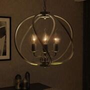VONNLighting Sargas 4 Light Globe Pendant; Architectural Bronze
