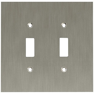 Franklin Brass Concave Double Switch Wall Plate; Satin Nickel