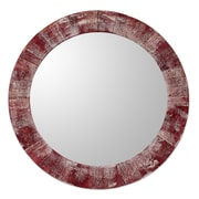 Novica Rustic Round Wall Mirror
