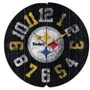 Imperial NFL 16'' Vintage Wall Clock; Pittsburgh Steelers