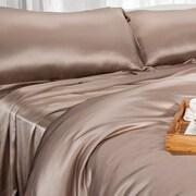 Barska Aus Vio 100% Silk Flat Sheet Queen Pebble  (BM12082)
