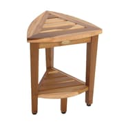 EcoDecors EarthyTeak  Teak Corner Shower Bench
