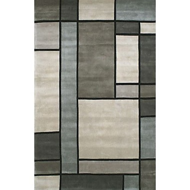 American Home Rug Co. Casual Contemporary Grey / Slate Metro Area Rug; 3'6'' x 5'6''