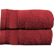 Maison Condelle Sandra Venditti Bamboo Rayon Bath Towel (Set of 2); Red
