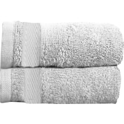 Maison Condelle Sandra Venditti Bamboo Rayon Bath Towel (Set of 2); White