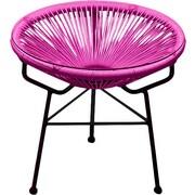 Harmonia Living Acapulco Side Table; Ottoman Hot Pink / Black Frame