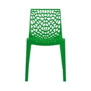 Grandsoleil Stacking Dining Side Chair (Set of 2); Glossy Green
