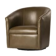 Comfort Pointe Draper Swivel Barrel Chair; Mink