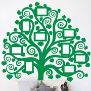The Decal Guru Family Tree Pictures Wall Decal; Light Green