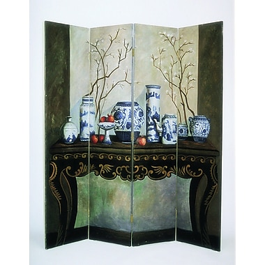 Wayborn 64'' x 72'' China Arrangement 4 Panel Room Divider