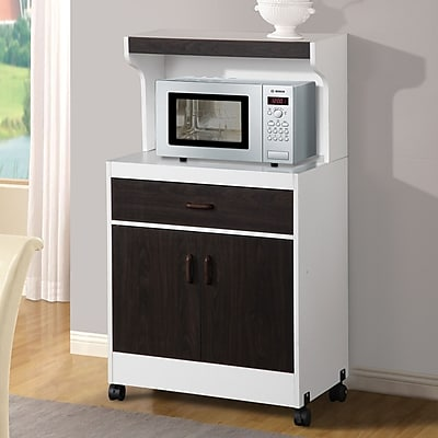 Counter Height Microwave Cart : cart black hazelwood home microwave cart black shelf 15 d cart height ...
